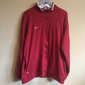 Team NIKE Fit Dry Zip-up Jacket XL Red